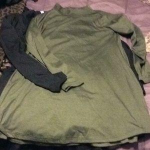 Black and Hunter Green dresses